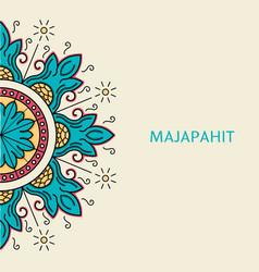 Gometric majapahit motif vector