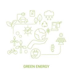 green energy concept green energy concept vector image