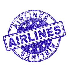grunge textured airlines stamp seal vector image