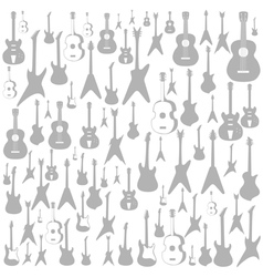 Guitar a background vector image