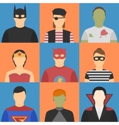 Halloween avatars vector image