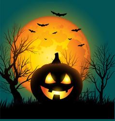 Halloween pumkins background design vector