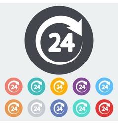 Hours 24 vector