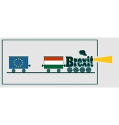 Hungary and EU relationships Brexit text vector
