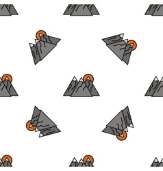 Hunting flat icon pattern vector image vector image