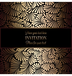 Invitation decorative golds 01 vector image