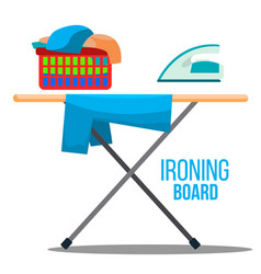 ironing board iron linen cleaning vector image