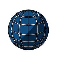 Isolated big website vector