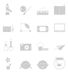 Kid activities icons set on white background vector image