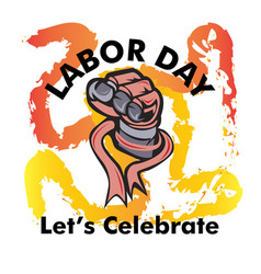 labor day logo vector image