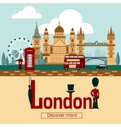 London Touristic Poster vector image