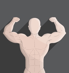 Male muscle gym grey vector