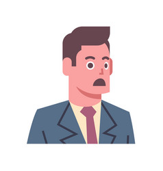 male shocked emotion icon isolated avatar man vector image