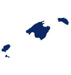 Map balearic islands in blue colour vector