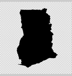 map ghana isolated black on vector image