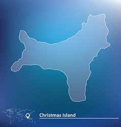 Map of Christmas Island vector image