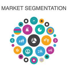 Market segmentation infographic circle concept vector