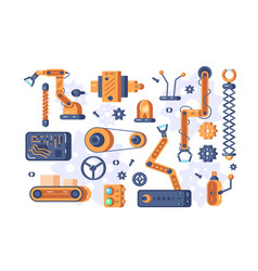 mechanism parts set vector image