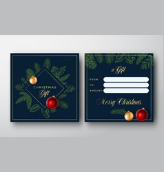 merry christmas abstract greeting gift card vector image