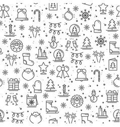 merry christmas party celebration seamless pattern vector image