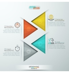 Modern style infographics options banner for 4 vector image