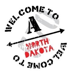 North Dakota stamp vector