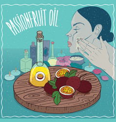 Passionfruit oil used for skin care vector
