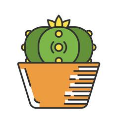 Peyote cactus in pot color icon vector