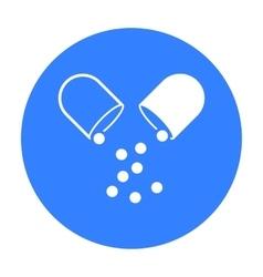 Pill icon black Single medicine icon from the big vector