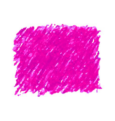 Pink pen scribble texture stain isolated on white vector