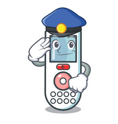 police remote control character cartoon vector image