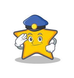 Police star character cartoon style vector