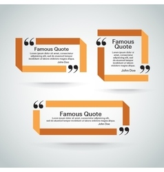 quote border set vector image