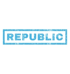 Republic Rubber Stamp vector image