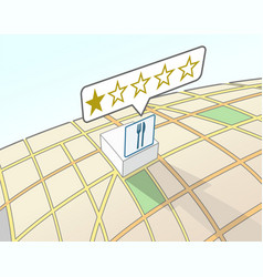 Restaurant lowest user rating vector