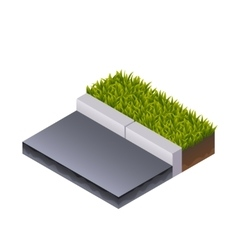 Road and Grass Isometric vector image