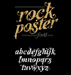 rock poster alphabet vector image