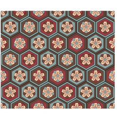 Seamless japanese flower pattern vector