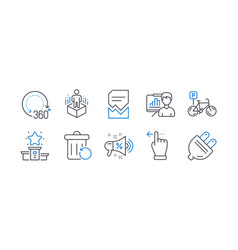 Set business icons such as augmented reality vector