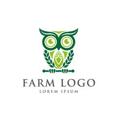 Smart farm logo designs vector