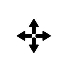symbol arrows black on white background vector image