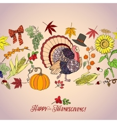 Thanksgiving Day Decorations vector