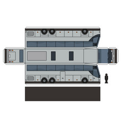 The paper model of a large touristic bus vector