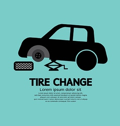 Tire Changing Graphic vector image