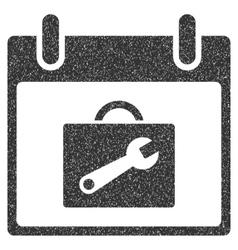 Toolbox Calendar Day Grainy Texture Icon vector