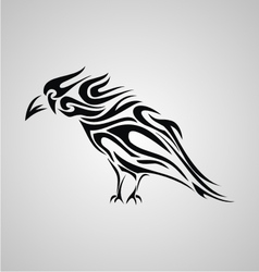crow tribal tattoo vector images 31 rh vectorstock com tribal crow tattoo meaning Crow Tribal Tattoos for Men
