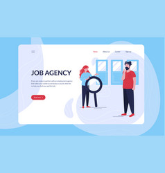 two young people are looking for a job vector image