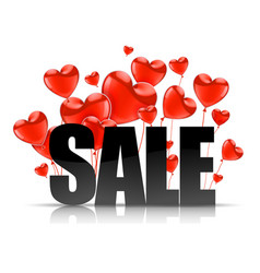 valentines day advertising sales black sale word vector image