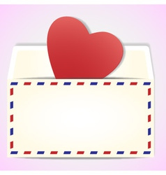 Valentines day greeting letter vector
