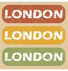 Vintage London stamp set vector